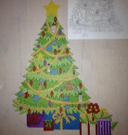 Canvas CHRISTMAS TREE STOCKING  CS7273