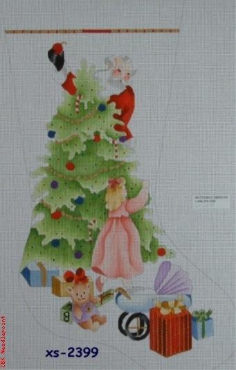 Canvas GIRL PEEKING/SANTA XS-2399A