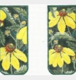 Canvas YELLOW ECHINACEA EYEGLASS CASE WG12029E