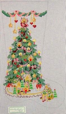Canvas GINGERBREAD TREE GIRL  CS179