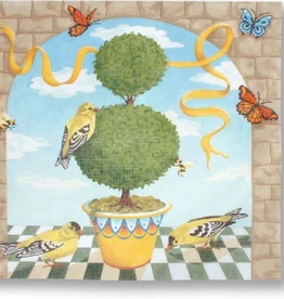 Canvas GOLDFINCH & TOPIARY  KSHPL24