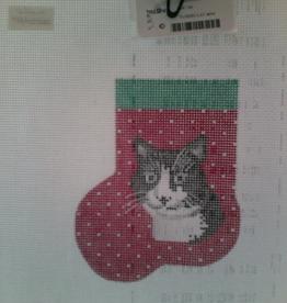 Canvas TUXEDO CAT MINI SOCK  AB378