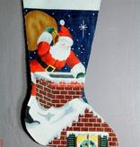 Canvas SANTA ON HOUSETOP  XS2318