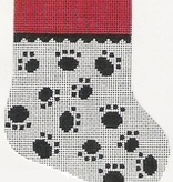 Canvas MINI DOG PAWS STOCKING  97A