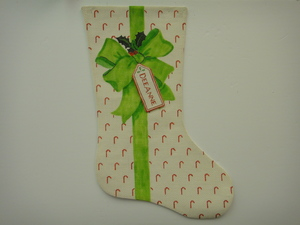 Canvas BOWS AND RIBBONS STOCKING XS3B
