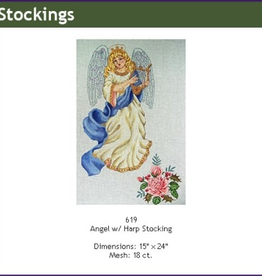 Canvas ANGEL WITH HARP 619