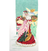 Canvas SANTA WITH 3 ANGELS  JST121