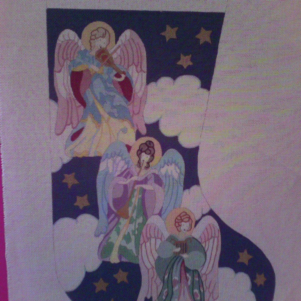 Canvas ANGELS STOCKING  CS56