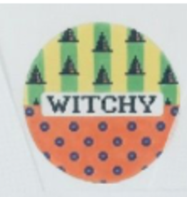 Canvas WITCHY ROUND  NHS203