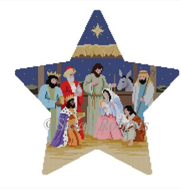 Canvases NATIVITY TREE TOPPER  3395