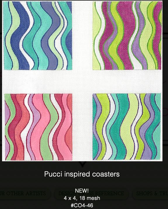Canvas PUCCI COASTERS  CO4-46