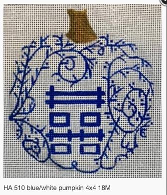 Canvases BLUE/WHITE PUMPKIN - VINES  HA510