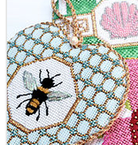Canvas FANCY HEART SERIES - BEE  FH01  WITH STITCH GUIDE