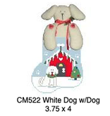 Canvas DOG HOUSE WITH WHITE DOG STUFFER  CM522
