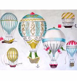 Canvas HOT AIR BALLOONS - BLUE MULTI  KB1269