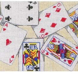 Canvas PLAYING CARDS PURSE  8314