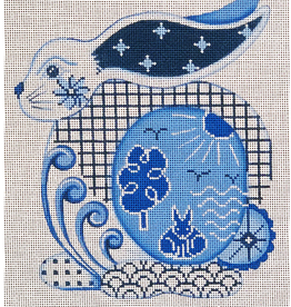 Canvas BLUE AND WHITE BIG BUNNY  42204