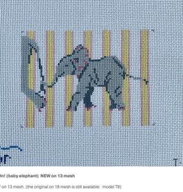 Canvas HANG ON!  BABY ELEPHANT  T8