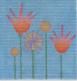 Canvas 5 FLOWERS SQUARE  ZE631