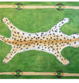 Canvas LEOPARD CLUTCH - GREEN DG3AG