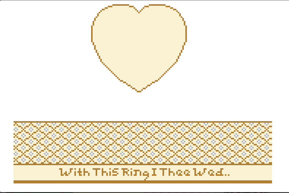 Canvas WITH THIS RING...HINGED BOX  WITH HARDWARE FSHRT10