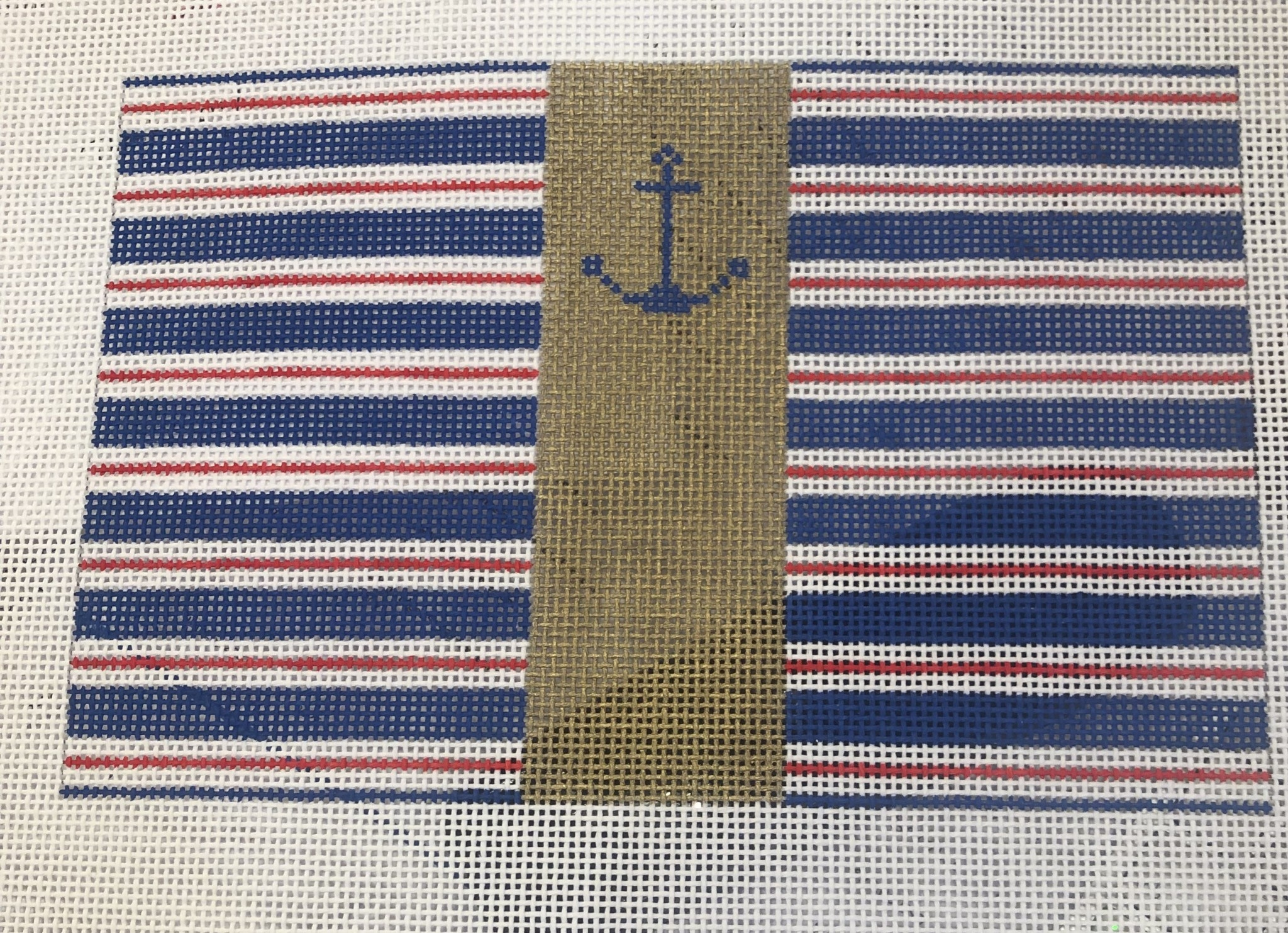 Canvas ANCHOR AND STRIPES SMALL FLAT   SF03
