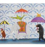 Canvas WALKING IN THE RAIN  ZE596