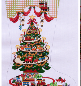 Canvas CHRSTMAS TREE WITH TRAINS  CS147