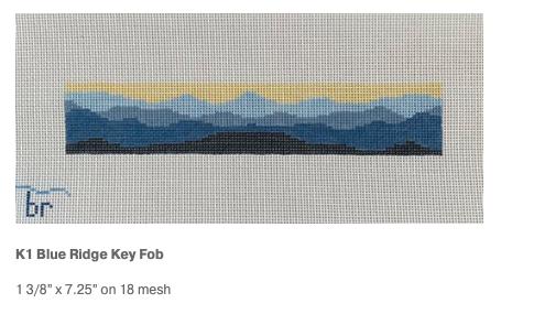 Canvas BLUE RIDGE KEY FOB  K1