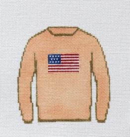 Canvas AMERICAN FLAG SWEATER  MJD1