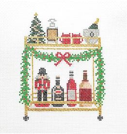 Canvas CHRISTMAS  BAR CART  MJD35