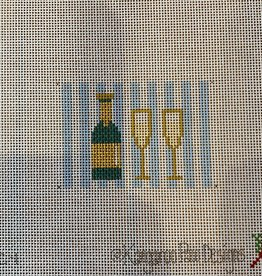 Canvas LUGGAGE TAG INSERT - CHAMPAGNE