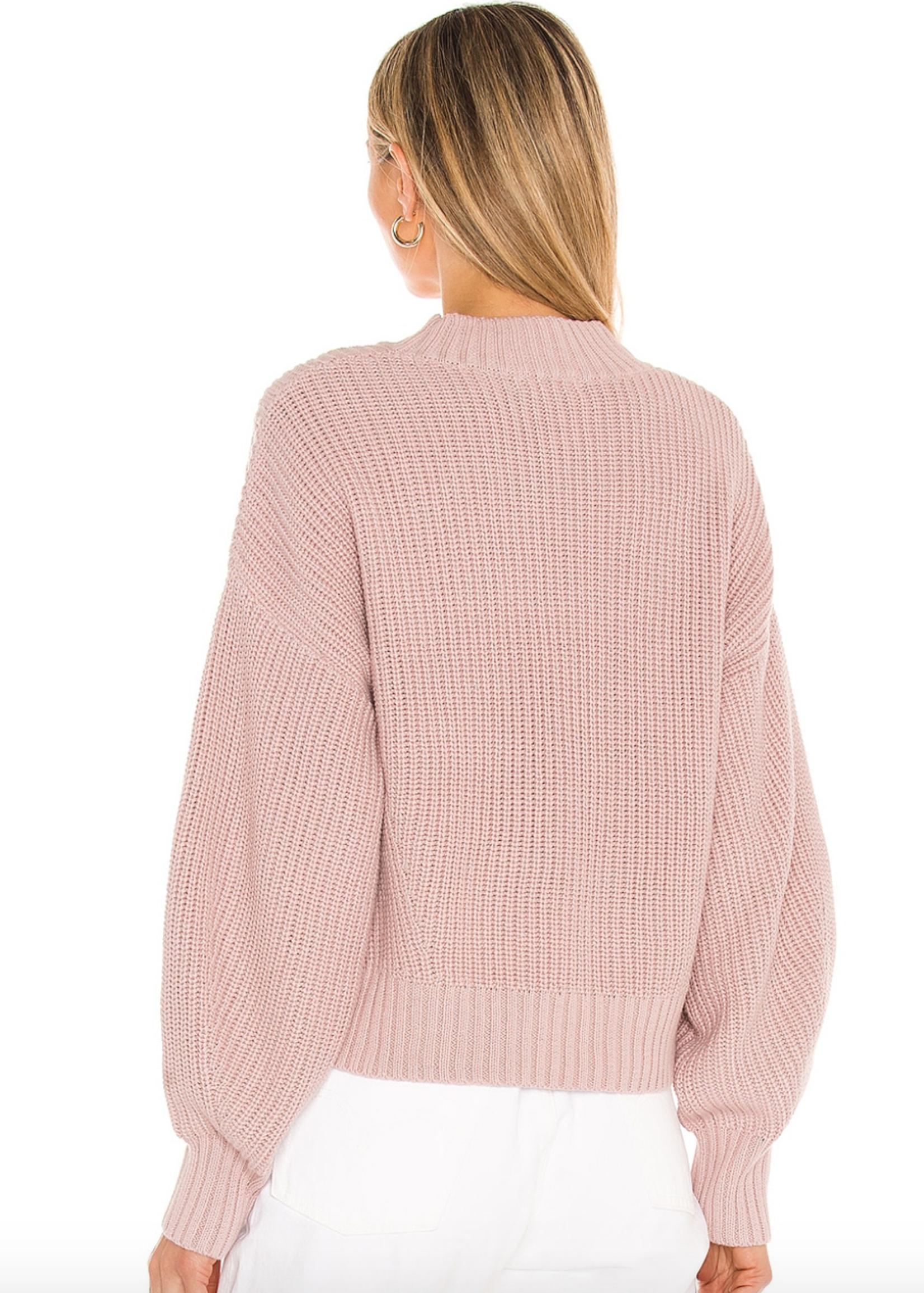 Mia Cropped Sweater Quartz