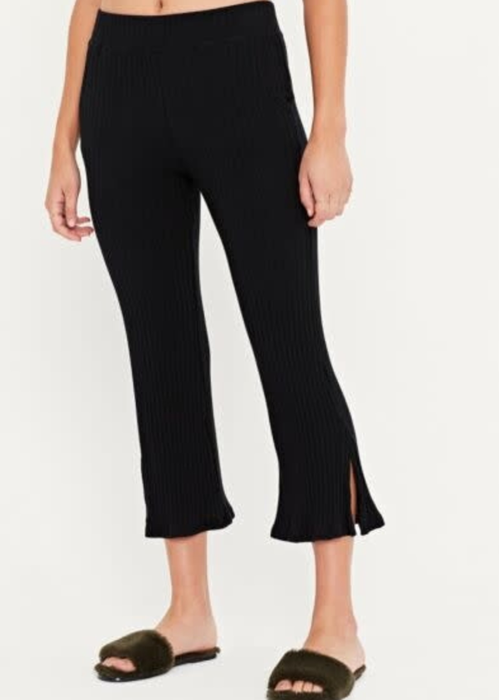 Time Moves Cropped Pant Black