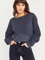 Project Social Tee Shirred Boxy Sweater Charcoal