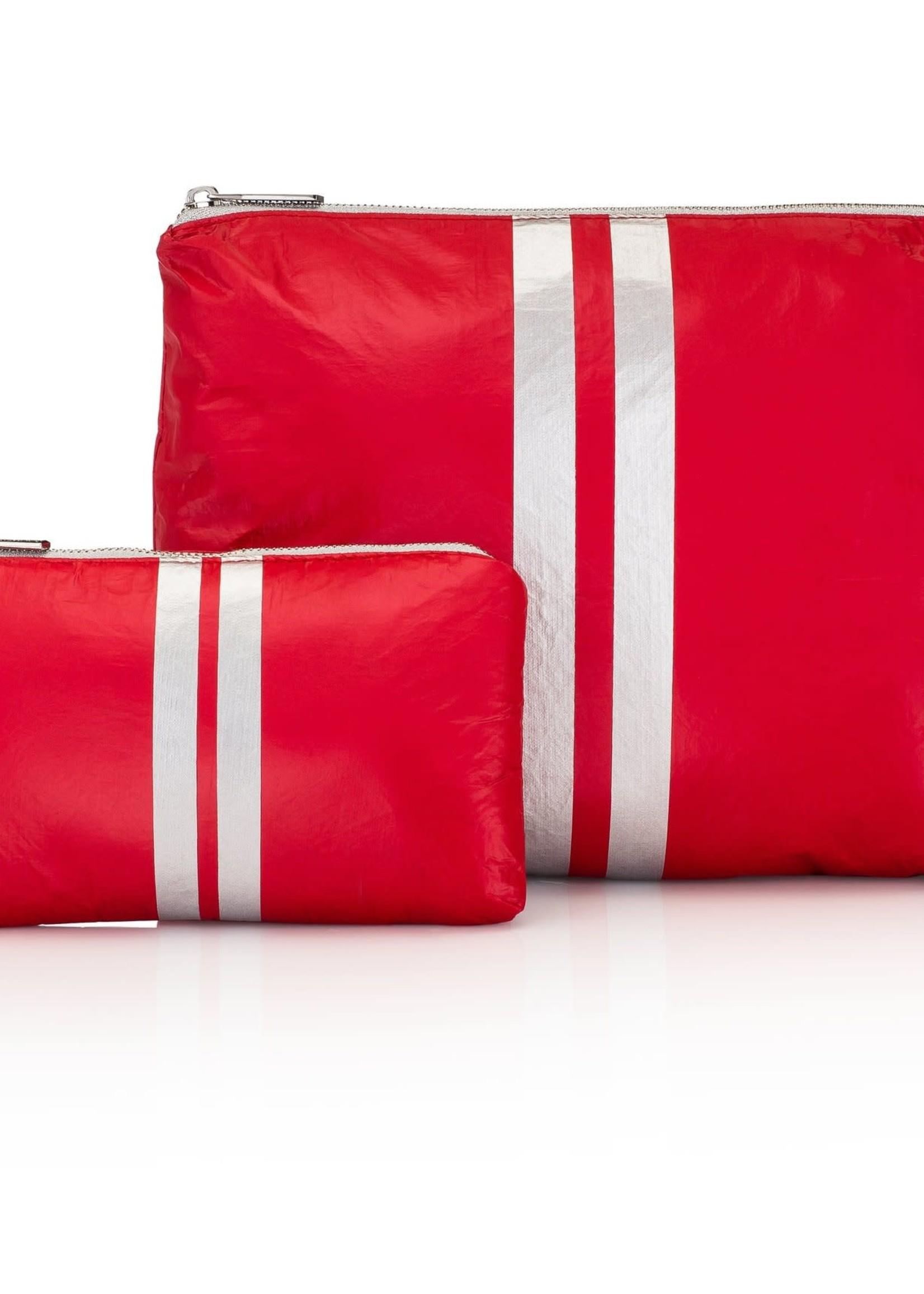 Set of Two Red Metallic