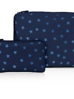 Set of Two Navy Shimmer Star
