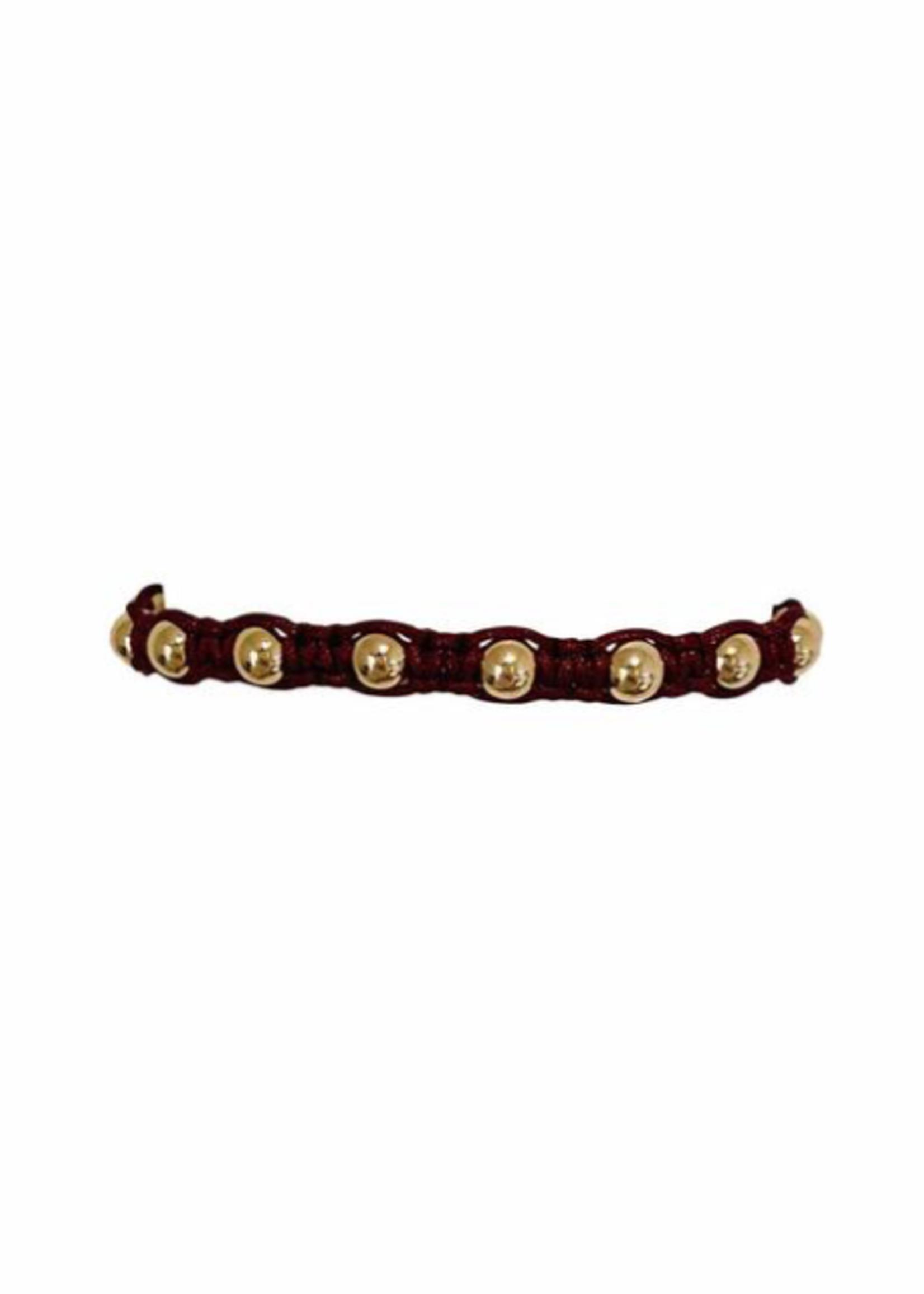 Garnet Macrame Bracelet KL