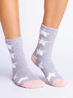 pj salvage Fun Socks Grey Stars