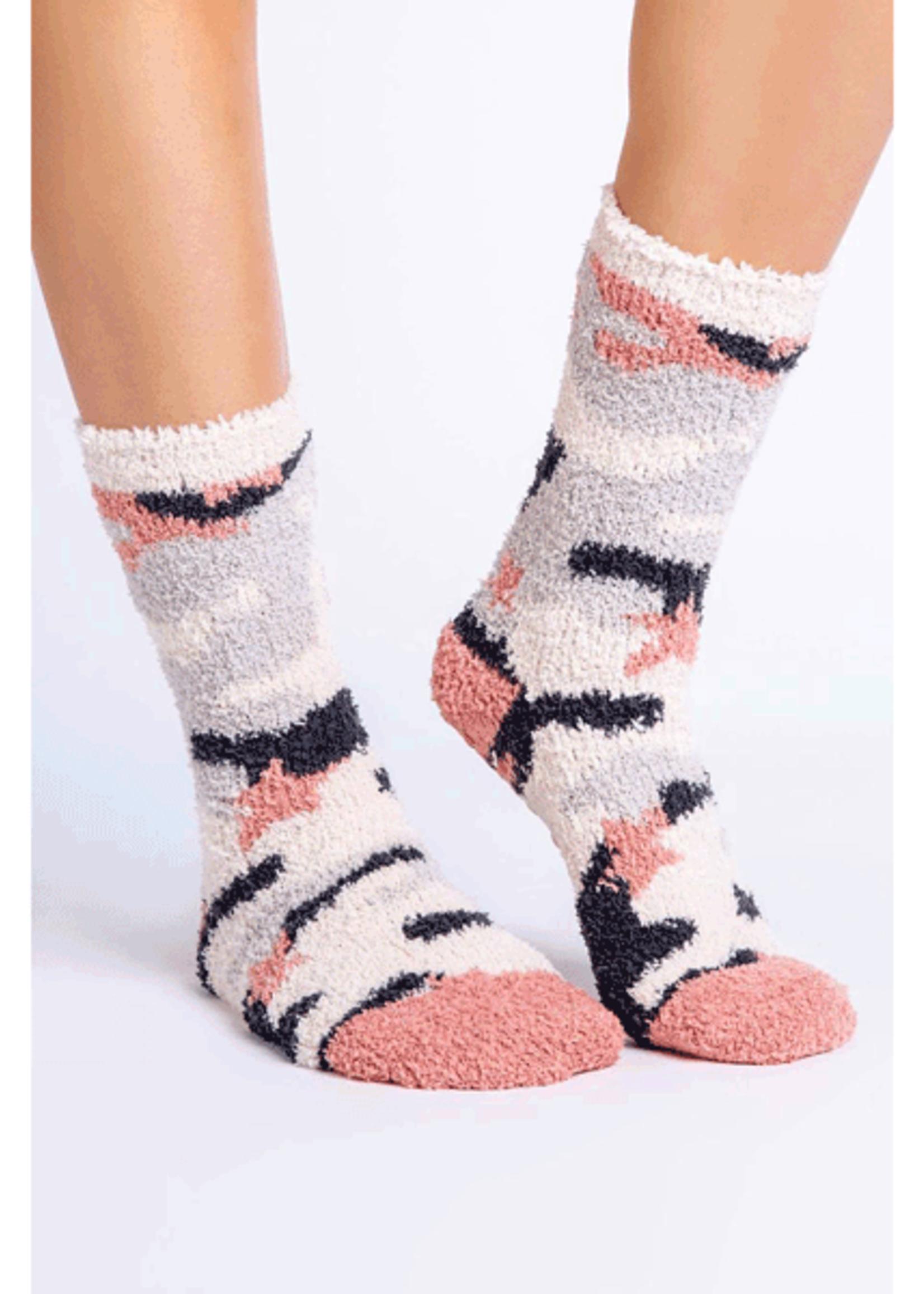 pj salvage Fun Socks Pink Camo