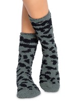 pj salvage Fun Socks Olive Leopard
