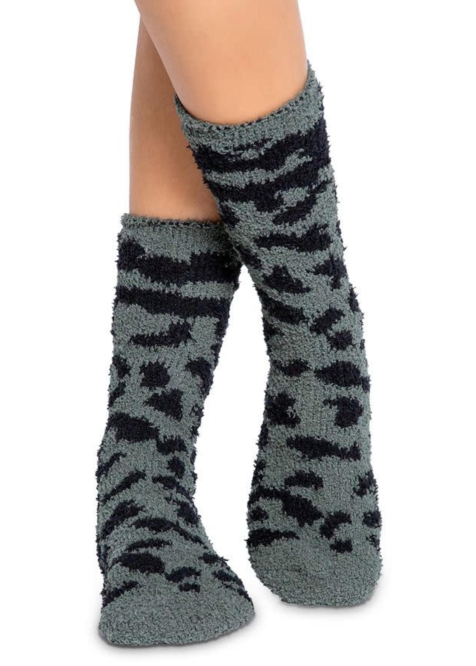 pj salvage Fun Socks Olive Leopard