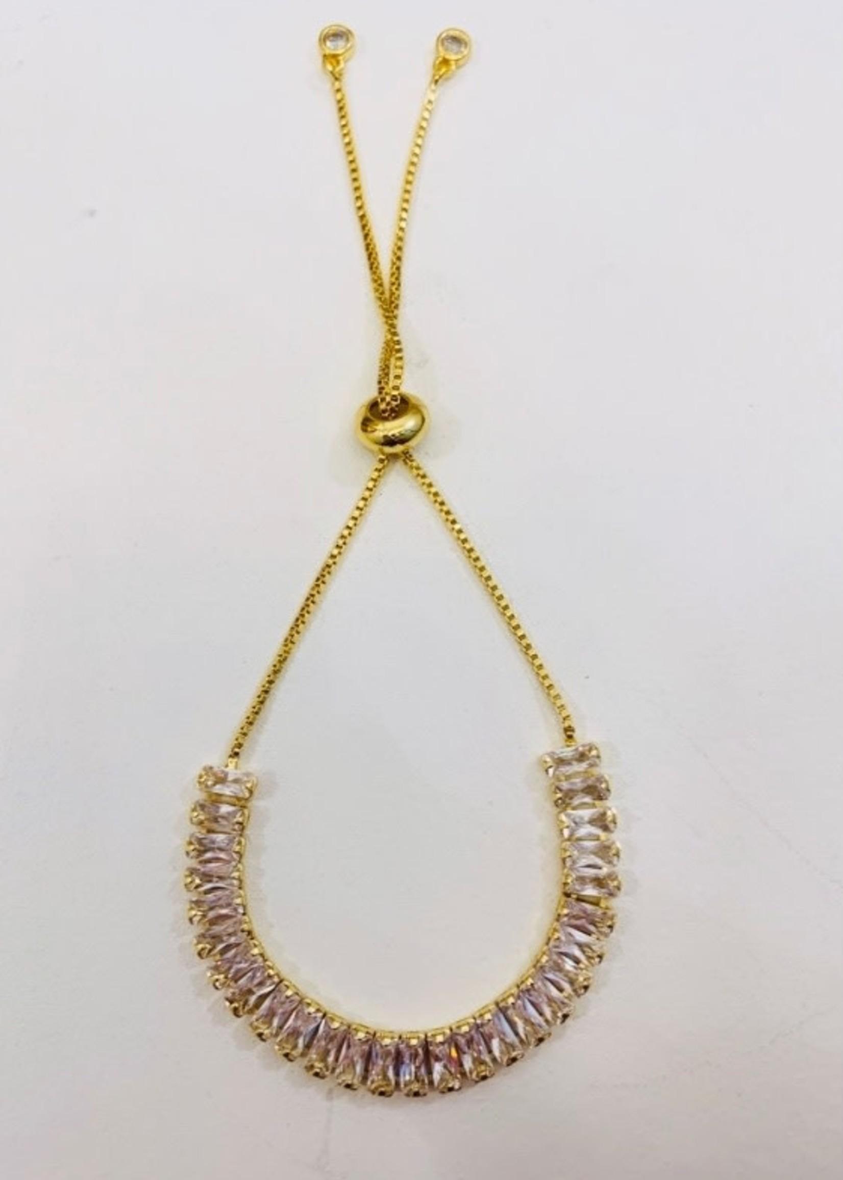 Clear Stone Gold Bracelet