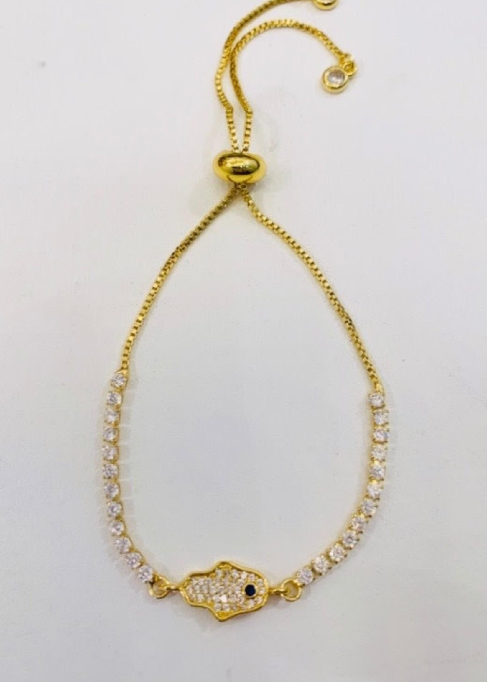 Hamsa Gold Bracelet