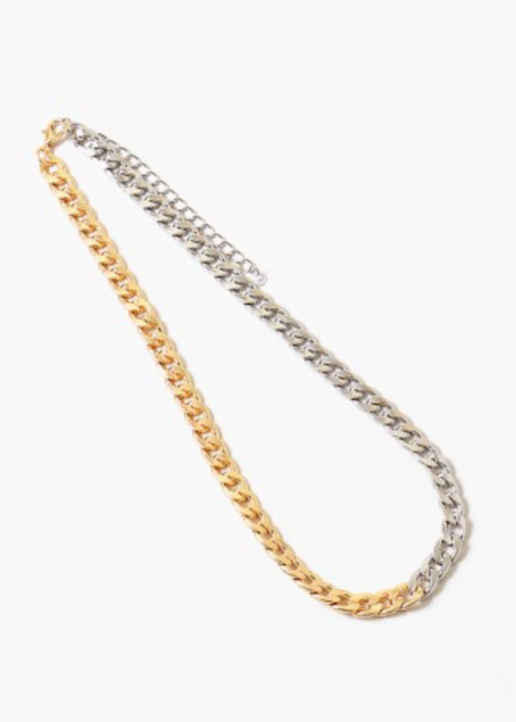 Two Tone Cuban Link Necklace