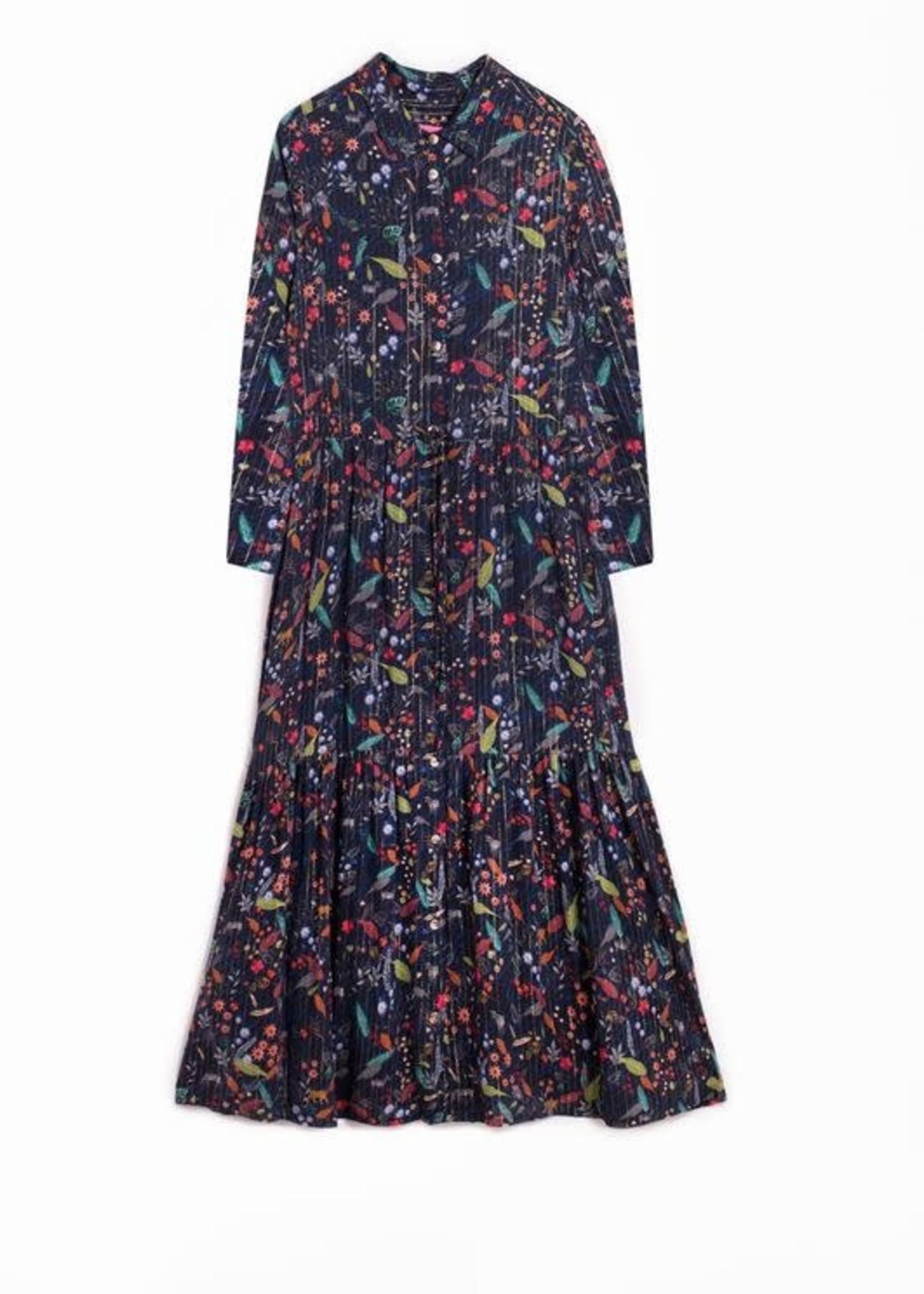Nocturnal Jungle Print Dress