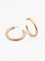 Brushed Skinny Gold Hoop 2""