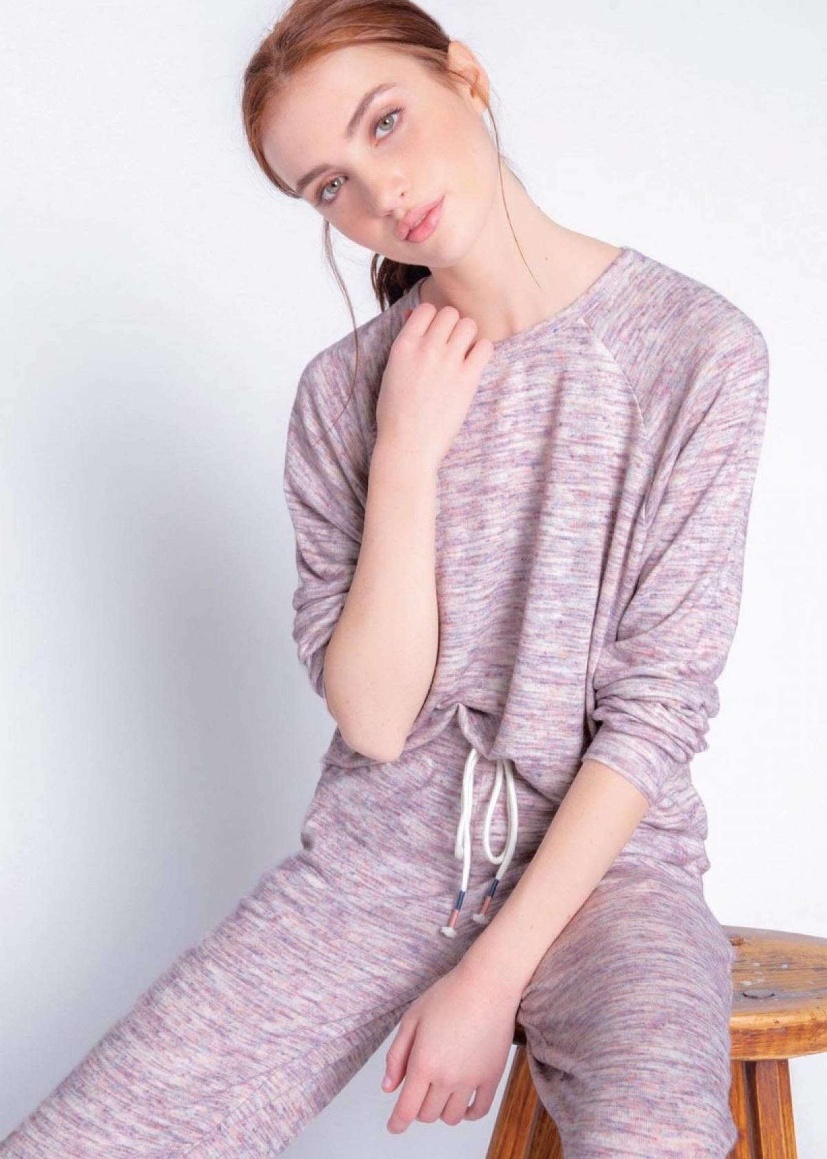 pj salvage Spaced Out Multi L/S Top