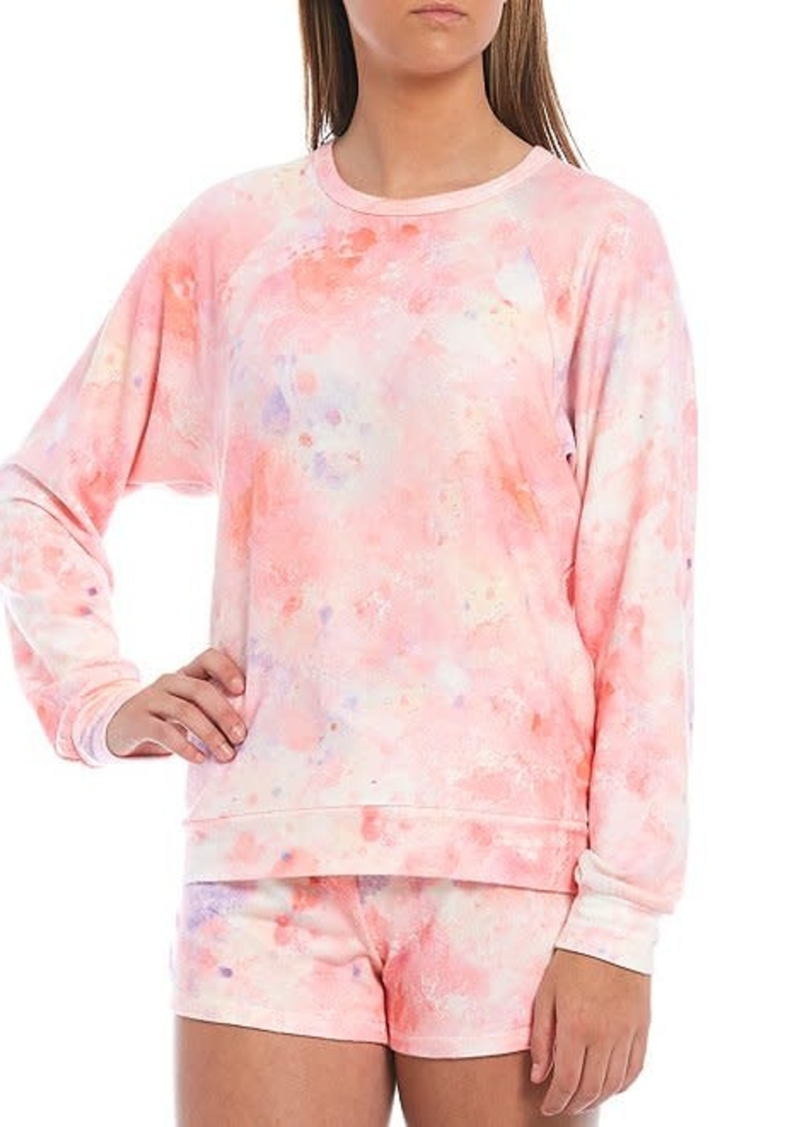 L/S Melting Coral Top