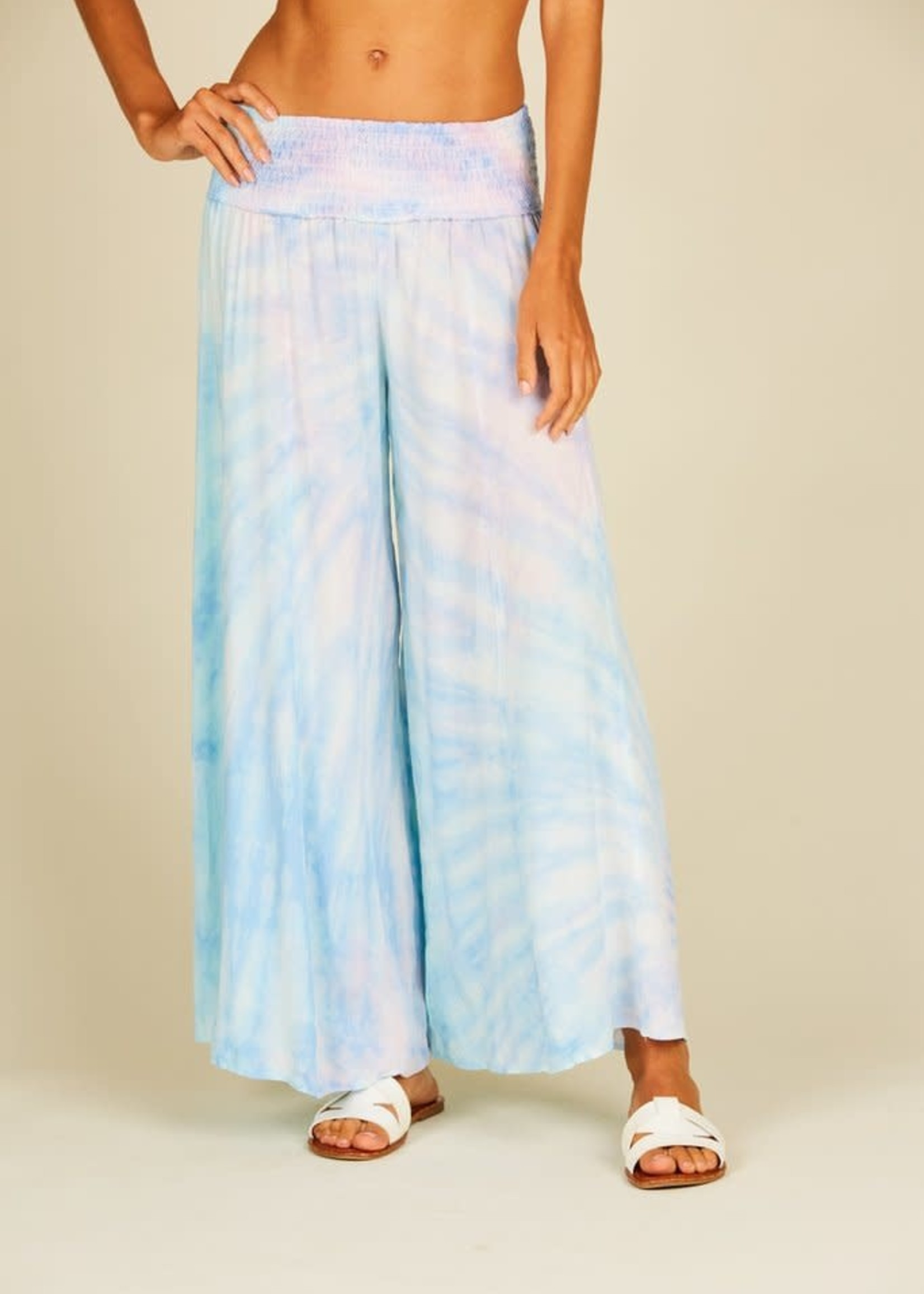 Surf Gypsy Tulum Lavender Tie Dye Wide Leg Pant
